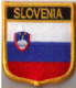 Slovenia Embroidered Flag Patch, style 07.
